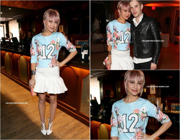 1er mai 2014 - Chelsea et son ex Brian Dales étaient à la pre-party des iHeart Radio Music Awards à Los Angeles.