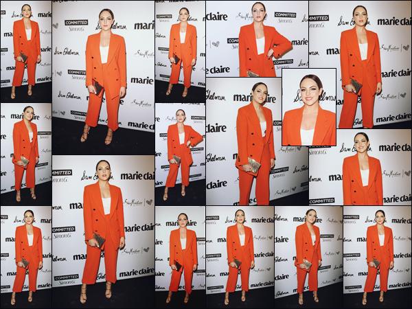 . • 27/04/18  —  Elizabeth était présente à la soirée organisée par Marie Claire  «  Fresh Faces Party » à Los Angeles..