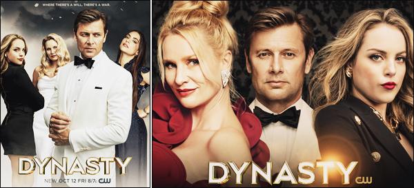 - •• Nouvelles affiches promotionnelles pour la  saison 2 de : « Dynasty  » • Sortie prévue le 12/10 ! -