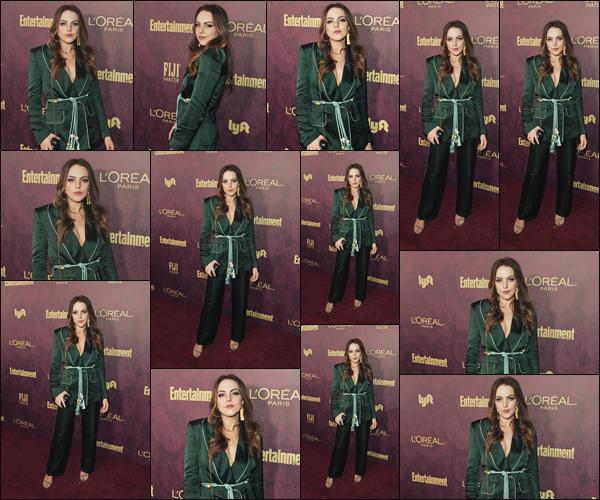 . • 15/09/18  —  Lizzie s'est rendue à la «  Entertainment Weekly Pre-Emmy and L'Oreal Party » à Los Angeles !.