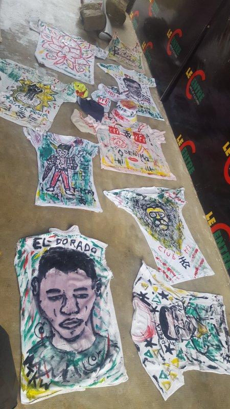 teeshirt peint a la main marque deposer TINKPON KAINFRI WEAR