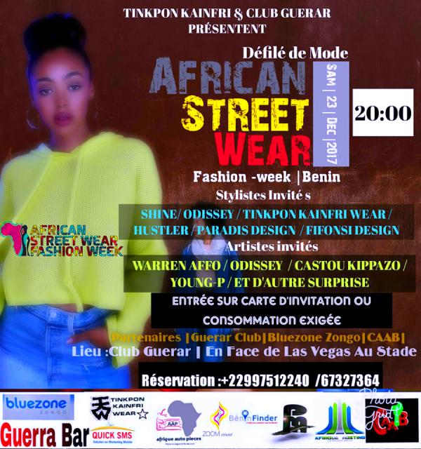african street wear fashion week presenter par tinkpon kainfri wear