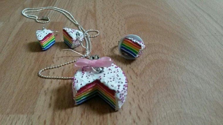 Parure Rainbow cake !!!