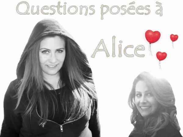 Questions posées à Alice