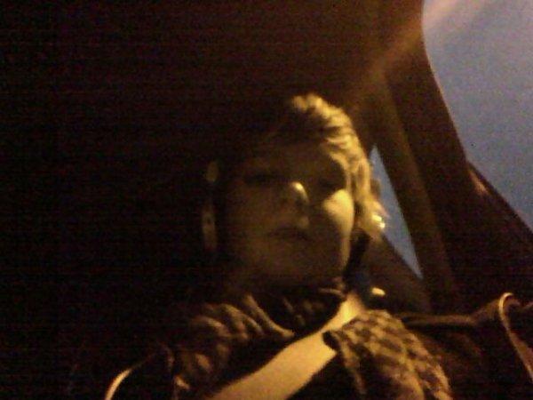 moi dans la voiture