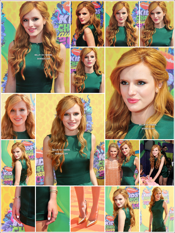 29/03/14 : Bella été allée au Kids Choice Awards 2014.