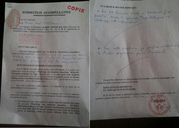 Le Journaleux commerçants et CEET : Les magouilles de Jean-Paul Agboh de « Focus Infos », dénoncées par Germain Ayivi Fioklou-Toulan de « Le Perroquet »