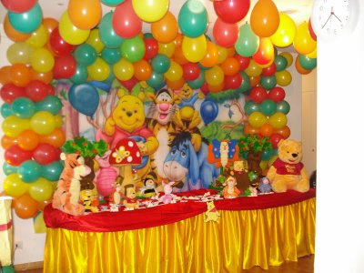 Thême Winnie Lourson Decoration Anniversaire