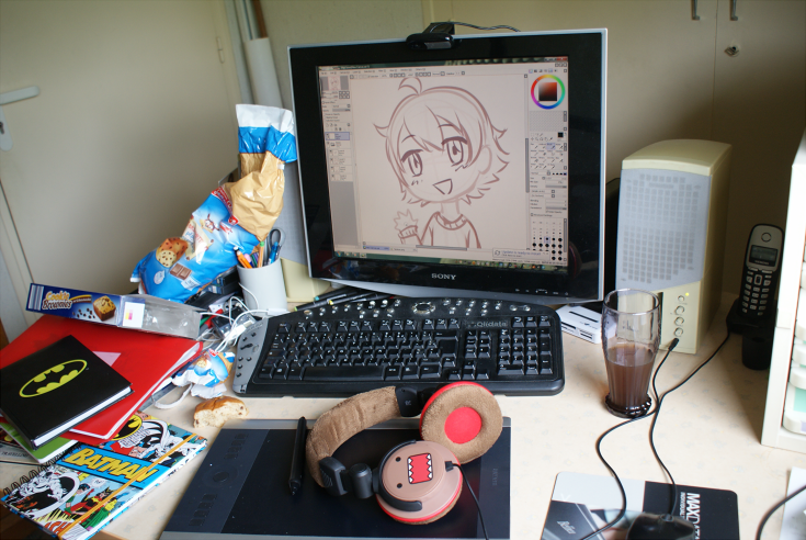 Yep, encore mah work space :'D
