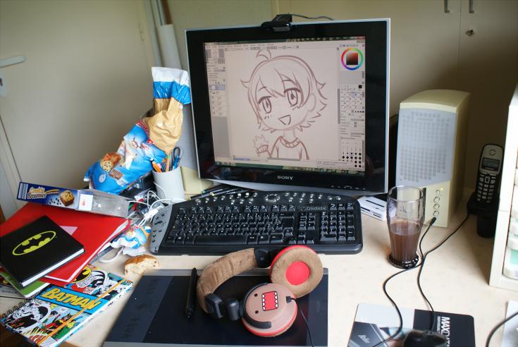 Yep, encore mah work space :'D