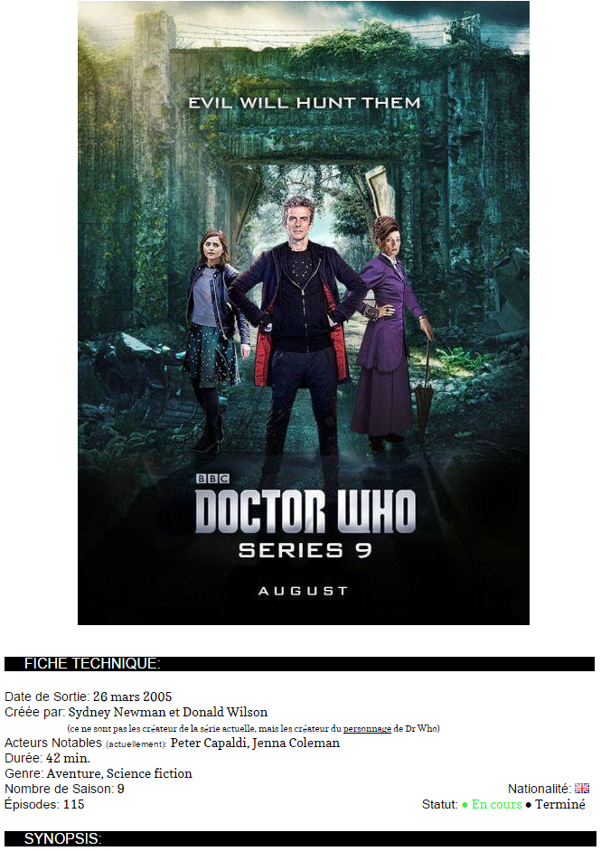 .Doctor Who..