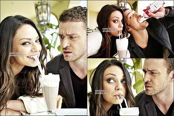 Mila et Justin Timberlake ont réalisé un photoshoot pour  «  People Magazine » en 2011.