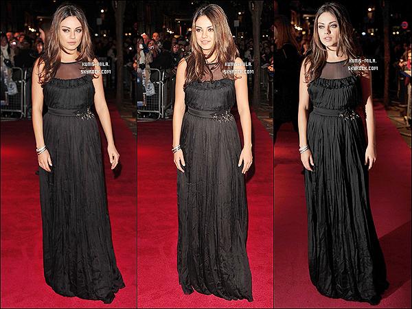 22 octobre 2010       Mila était présente à l'avant première du film Black Swan avec Vincent Cassel à Londres.