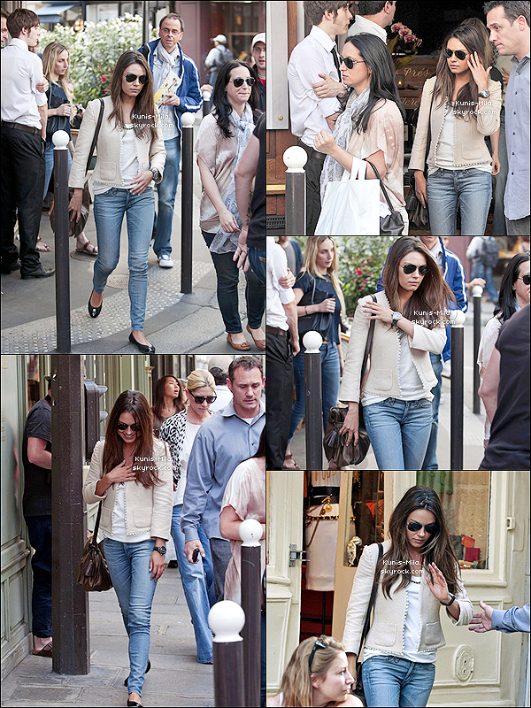 30/07/11 : Notre Mila Kunis a été vue allant faire du shopping dans les rues de notre capitale, Paris (France).