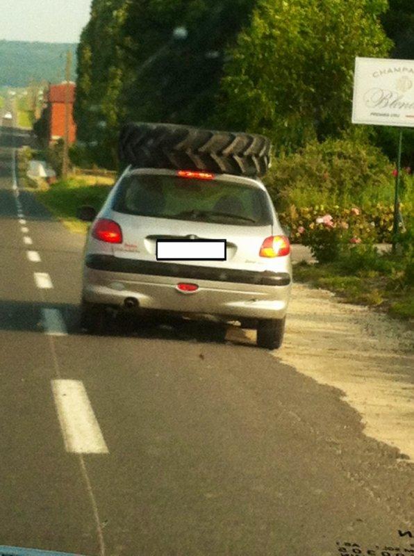 Transport de pneu