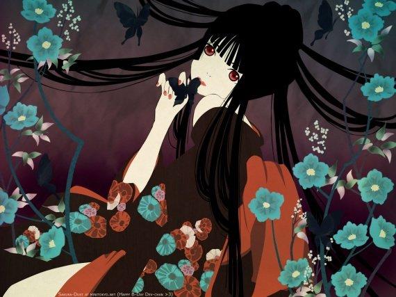 Les yeux comme des perles au noir des mers de Chine,  Oh merveille tu me donnes la main Petit bout de beauté Poésie incarnée  (Saez)