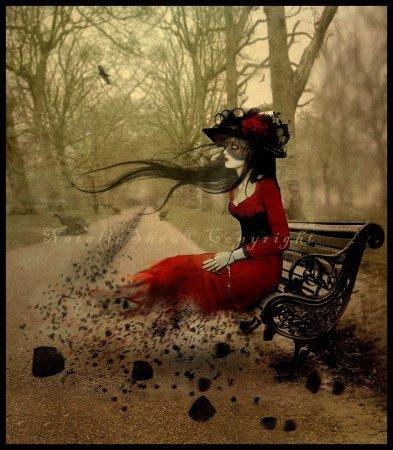 Ce sont des loups frileux au bras d'une autre mort, piétinant dans la boue les dernières fleurs du mal, ils ont cru s'enivrer des chants de maldoror, et maintenant ils s'écroulent dans leur ombre animale (H-F Thiéfaine)