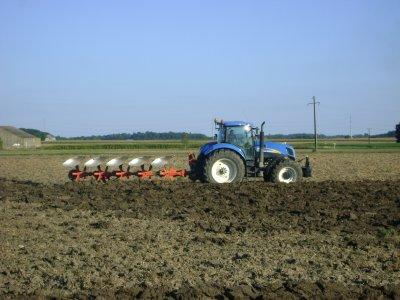Labour pour semis de blé tendre dans le 45 2010