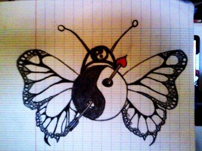 dessin ying yang perso