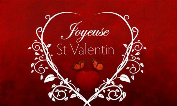 JOYEUSE   ST  VALENTIN  POUR  DIMANCHE BISOUS /*/*/*/*/*/*/*/