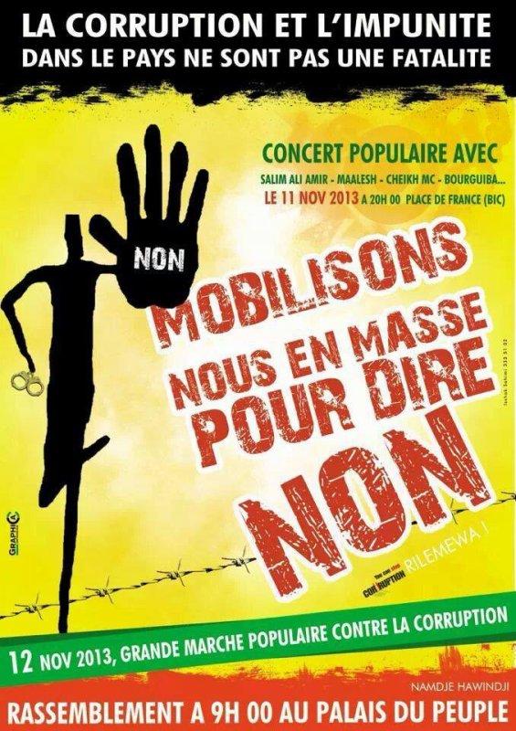 JOURNEE DU 12 NOVEMBRE 2013 - Moroni Comores - GRANDE MARCHE ANTI CORRUPTION