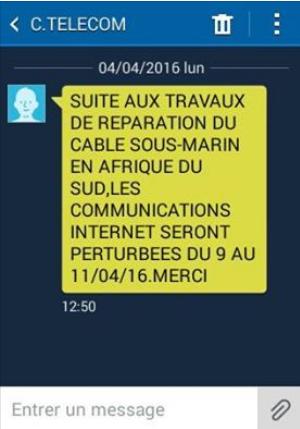 Sauf sur la volonté de Comores telecom , il n'y aura pas une perturbation de la connexion internet aux Comores
