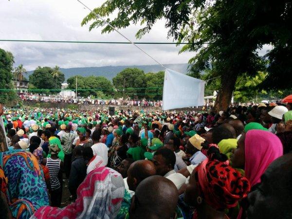 MEETING DE CLOTURE DU CANDIDAT DU RDC : Mouigni Baraka promet une surprise