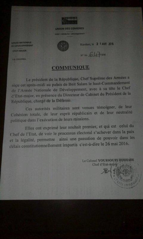 Caporalisation de la CÉNI et de la Cour par l'Armée?