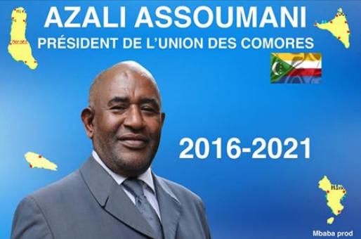 Président de l'Union des Comores: Azali Assoumani(CRC).