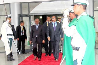 Le président Azali au 27-ème sommet de la Ligue arabe à Nouakchott, en Mauritanie