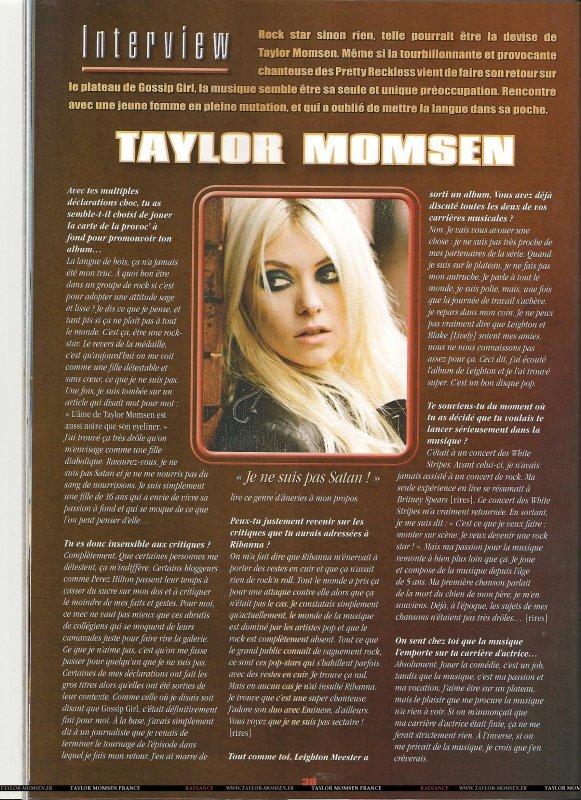 Une Interview de Taylor , Pour le Magazine Français Série Mag , est aparrue. Clique sur la Photo pour la Voir en Plus Grand.