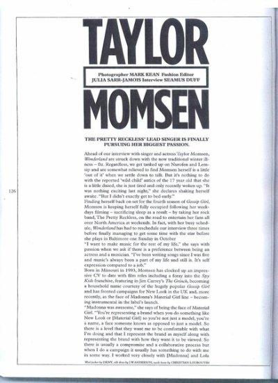 Une Interview de Taylor pour Wonderland Magazine. Les Photo sont Plus que Magnifique , J'adore et Je suis Littéralement  fan de ce Shoot. ( Ce soir j'ai la flemme de faire la Traduction donc vous l'aurez plutard )