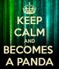 Keep calm and becomes a panda