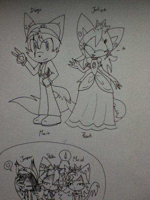"""Moi et mes amis en déguisements """"Mario And cie"""""""