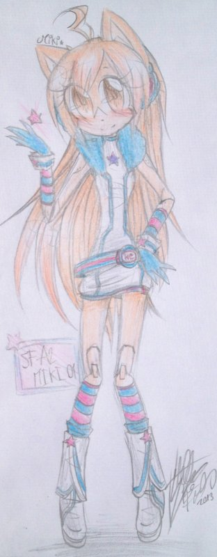 SF-A2 MIKI Sonic Style -> Miki The Hedgehog !
