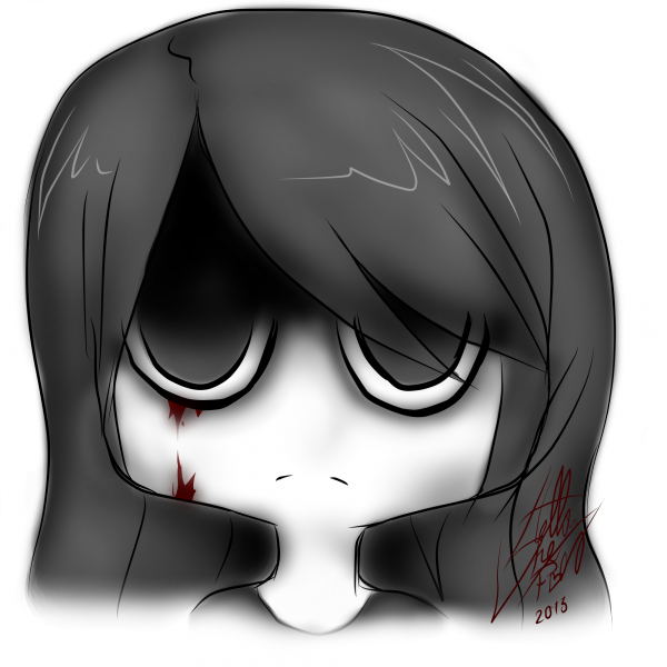 DRAW: '' Du sang sur ma joue droite. ''