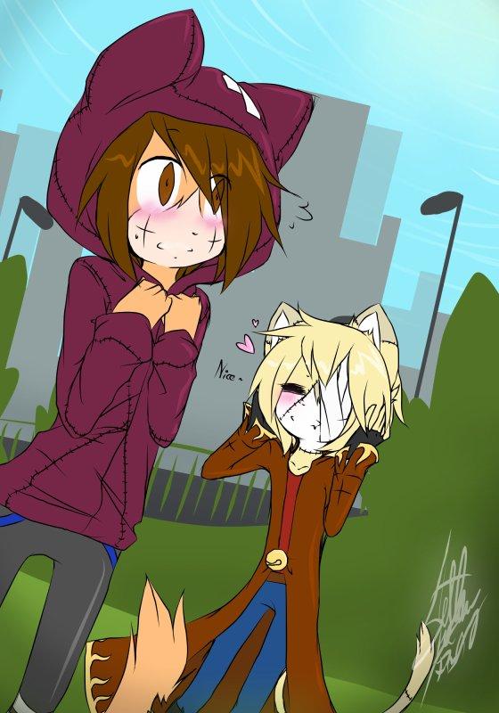 DRAW: Koneko et Gloomy échangent leurs vêtements ! :,>