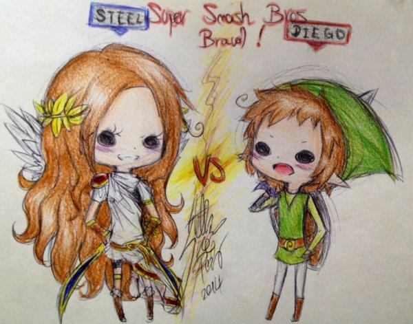 DRAW: Let's play Super Smash Bros Brawl ! (Colors)