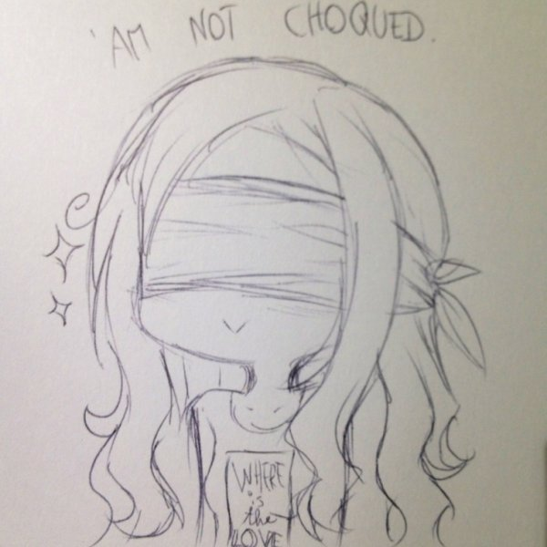 DRAW: 'am not choqued.