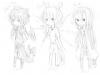 GIFTS: Dark Pit, Hariken et Nécro version Chibi.