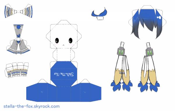 PAPERCRAFT: Ducky Doodle Chibi.