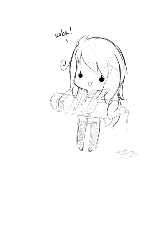 DRAW: Chibi SUPER MOMAN !