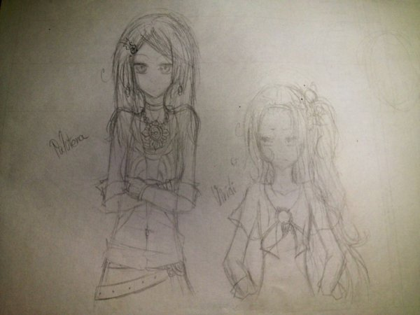 SKETCH: Palutena & Viridi in the modern world. (non fini)