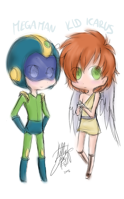 DRAW: Chibis Megaman et Kid Icarus (Captain N: The Game Master)