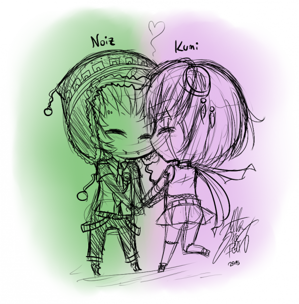 GIFT: Noiz x Kumi chibi version.