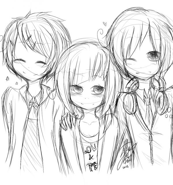 GIFTS: Chibi Classic Pan / Kumi, Amatsuki and Kony. / Chibi Rita.