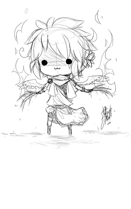 DRAWS: Shiro Portrait / Sad Amai Head / Wolf Claws, a mortal weapon.