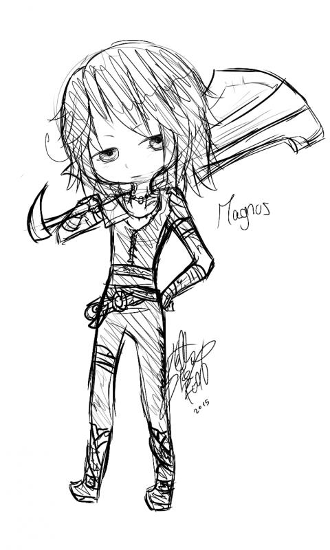 DRAW: Chibi Magnus.