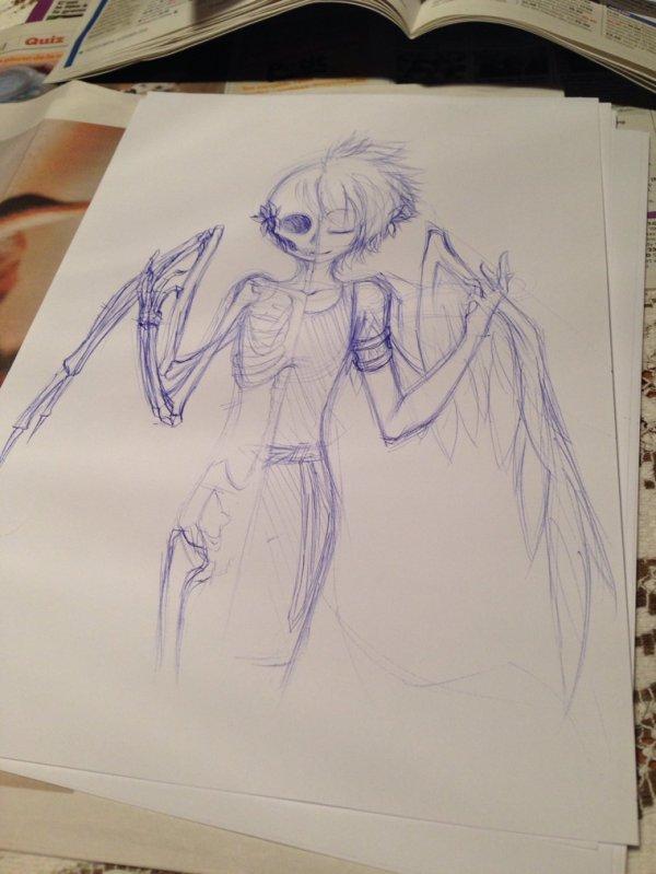WIP: Angel skeleton.