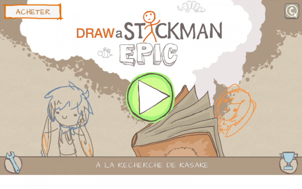 SCREENSHOT: A la recherche de KASAKE- (in Draw a Stickman: Epic)